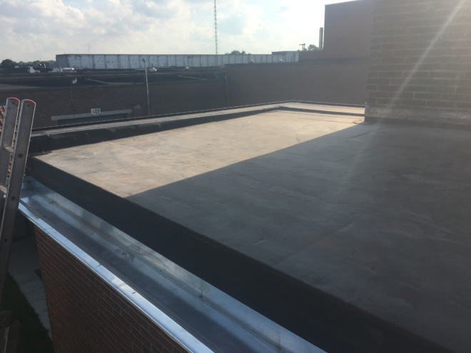 plat dak, epdm, zinkwerk, bakgoot